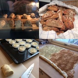 Det tillverkas och äts som sagt ofta väldigt god mat i personalbostaden i Malmköping. Här är bild på frukostbrödet och fikat...