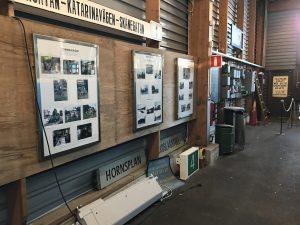 Den gamla utställningen innan nedmontering.